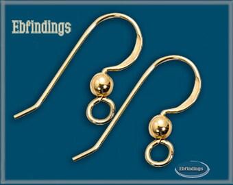 24 pcs 14K Gold Filled Earring Finding Ear Wire Hook EB001187pkg