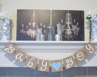 Baby Boy Sign - Baby Boy Shower Decorations - Baby Announcements - Boy banner- Baby shower- Baby Banner- Baby shower decorations