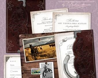 Western Wedding Invitation Suite (SAMPLE)