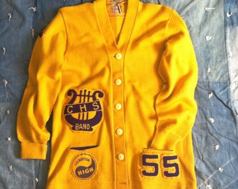 Vintage 1950s Varsity Letter Sweater, Culbertson HS, Montana