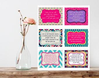 Prayer Cards, Scripture cards, Bible verse, Card set, printable cards, Scripture Art bible verse, Printable Prayer Cards, Perseverance