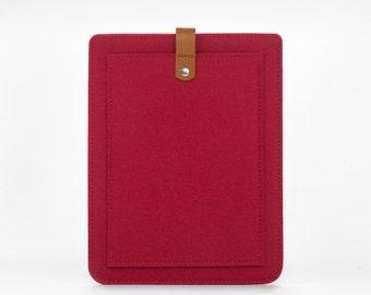 Felt Case for Macbook Pro 15 Retina - Grey MacBook Cover - Minimalist MacBook Pro 15 Case - Leather Laptop Cover - MacBook Pro 15 Case