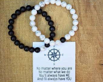 long distance friendship compass bracelet sailor bracelet distance bracelets best friend for couples distance bracelet bff going away gifts