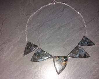 Ceramic Necklace and Silver chain