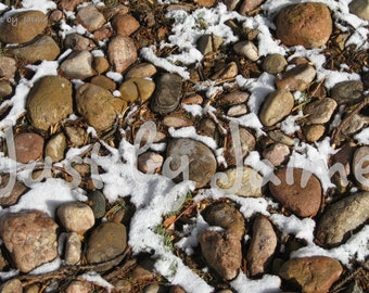 Snowy Stones professionally printed photo -- available in 5x7 or 8x10 (larger sizes by request) -- matte finish