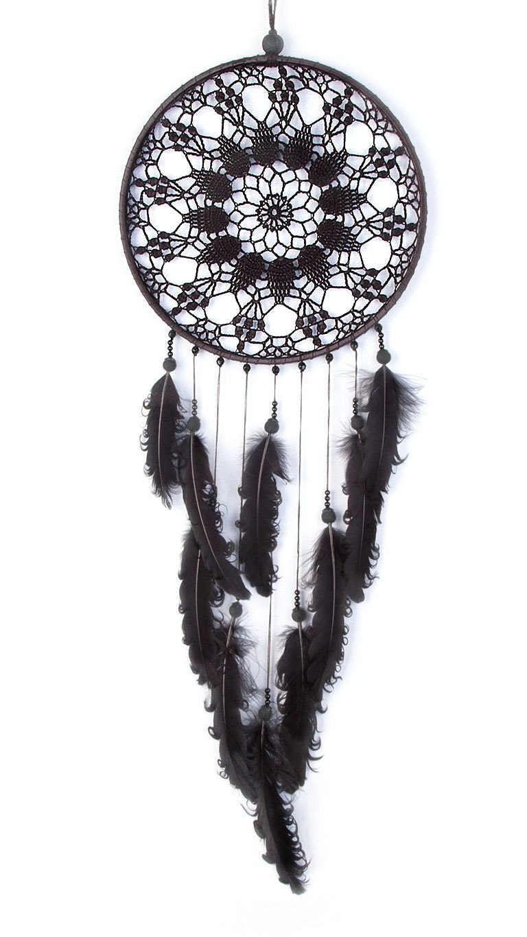 zoom Large Black Dream Catcher Crochet Doily