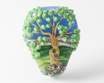 Lampwork Scenery Tree Bead