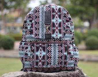 Tribal Backpack Aztec backpack  Hippie Backpack  Womens Backpack  Casual backpack  Womens Rucksack  Day pack  Mens Backpack  School Backpack