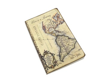 Personalized Travel Journal for Couples, Anniversary or Honeymoon Travel Log, Valentines Day Gift, Wedding Planner, Custom, Map Notebook