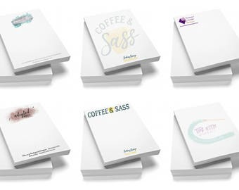 Personalized Note Pads, Glued Note Pads, Logo Note Pads, Business Note Pads, Custom Notepads, To-Do Lists, Branded Notepads Promotional Item