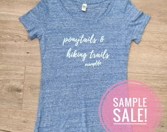 Ponytails & Hiking Trails Sample Sale! | Women's Scoop Neck Eco Tri-Blend T-Shirt