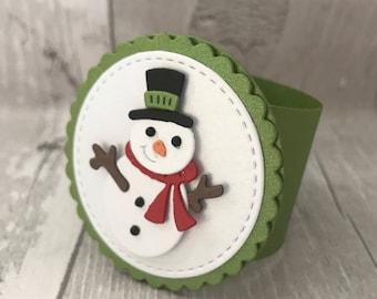 Napkin Rings, Christmas Napkin Ring, Christmas Table Decoration, Christmas Centerpiece, Snowman Napkin Ring, Holiday Napkin Ring