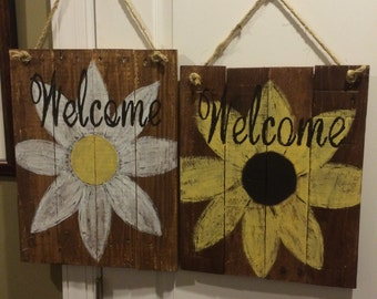 Handpainted welcome signs