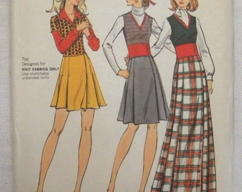 Vintage 1960s Butterick 6771 Wrap Skirt and Top Sewing Pattern -Size 16 Uncut