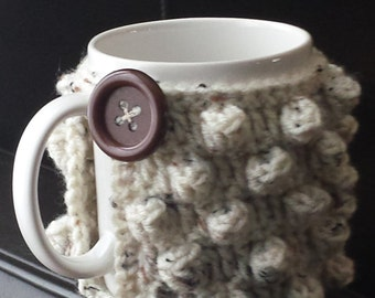 Popcorn Stitch Mug Cozy Pattern (PDF File only! :)