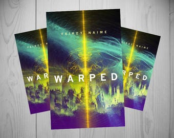 "Pre-Made eBook Cover ""Warped"" (Sci-Fi/Planet/Abstract City/Neon/Electric/Fierce)"