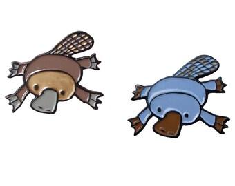Platypus Pin - Enamel Platypus - Swim or Sink