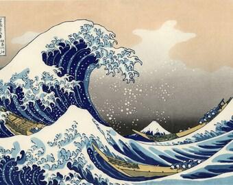 The Great Wave Off Kanagawa Katsushika Hokusai Japanese Art Picture Print A3 A4
