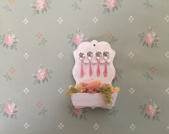 shabby chic spoon rack wall planter - free shipping to the US