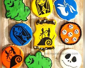 12 Nightmare Before Christmas sugar cookies