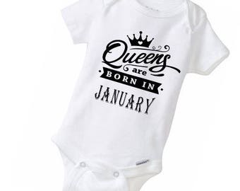 Infant and Youth Queens Are Born in....Personalized with your month. Many sizes available!