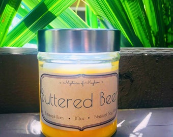 Buttered Beer - Buttered Rum Scented - Soy Wax Candle - Harry Potter Inspired