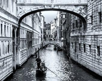 Gondola Ride In Venice, Italy, Travel Photography Europe, Fine Art Print