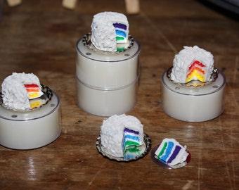 Miniature Rainbow Cake ~ Dollhouse Food