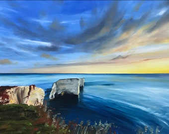 Sunrise at Old Harry. Signed Ltd Edition Fine Art Print by Rob Parkinson.