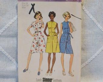 Vintage Simplicity 6453 Sewing Pattern Misses Pantdress Size 14 Crafts  DIY Sewing Crafts PanchosPorch