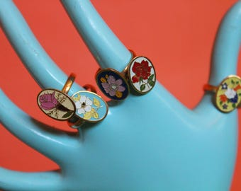 1960's Deadstock vintage Gold flower ring