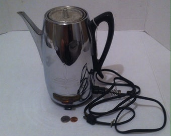 Vintage Universal Coffeematic Coffee Machine, Silver Metal Coffee Machine, Electric