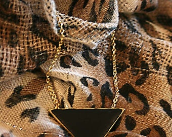 Pyramid triangle geometric necklace