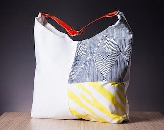 The White Graphic Hobo Bag