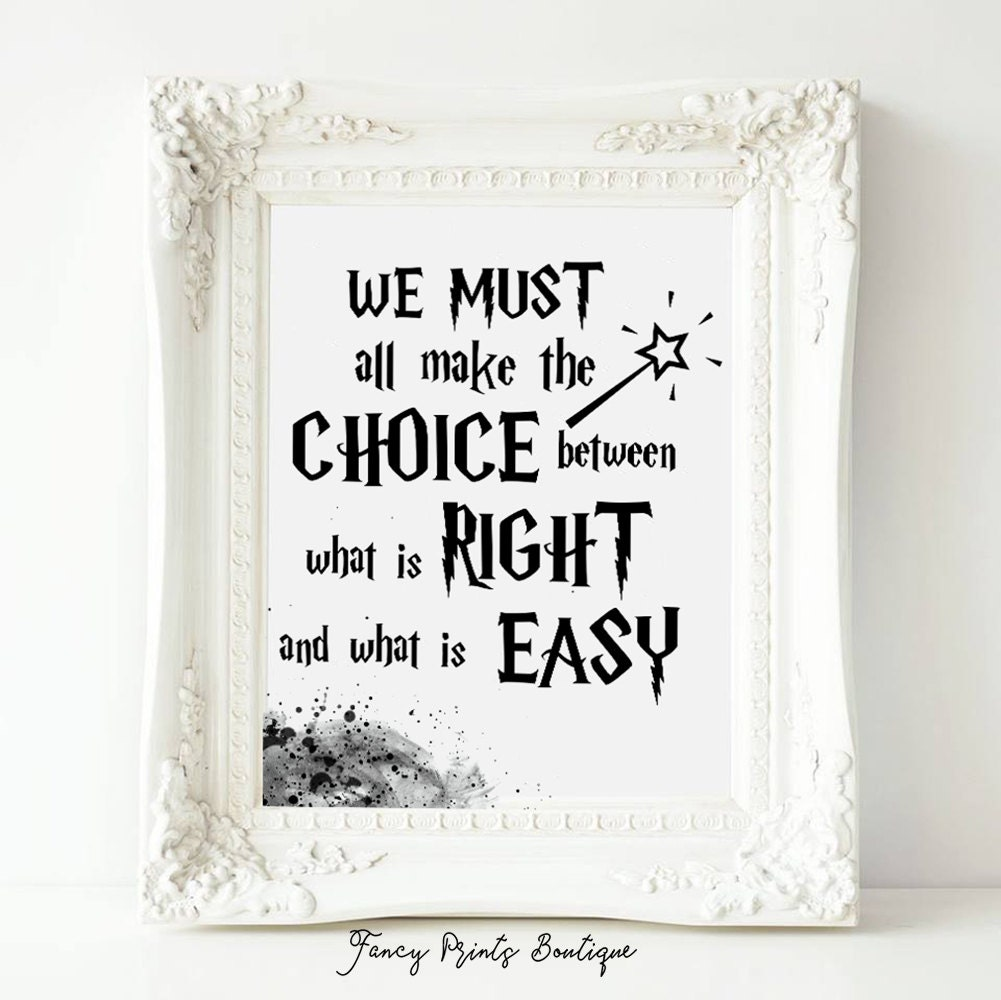 Printable Albus Dumbledore Quote Harry Potter QuotesWe Must