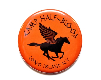Percy Jackson Inspired Camp Half-Blood Button