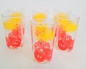 6 Magnifiques verres rét...