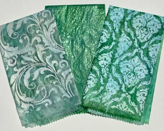 Decorated Deli Paper for Mixed Media Journaling Cards Tags