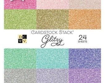 Die Cuts with a View - Glitzy - Paper Stack - 6 x 6