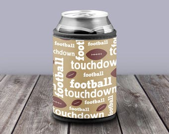 Football Fan Drink Cooler for 12 oz Cans Gift for Dad Father's Day Gifts for Him Touchdown Tailgating Beverage Beer Can Insulator Game Day