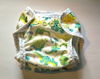 Panties with waterproof pul cloth diaper for protection
