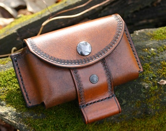 Leather Belt Pouch / Altoids Tin Pouch / Bushcraft Pouch / Possibles Pouch / Leather Bushcraft Pouch For Fire Kit/First Aid! PegCity Leather