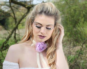Velvet rose Marie Antoinette choker necklace