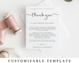 Printable thank you   Etsy