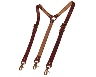 Red Leather Suspenders