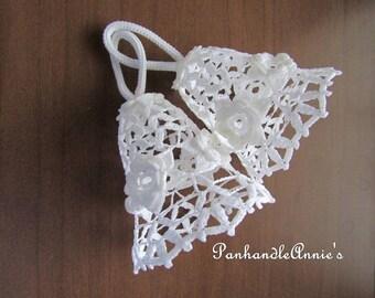 Hand Crocheted Rose Bells