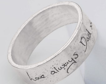 Sterling Silver Memorial Handwriting Ring