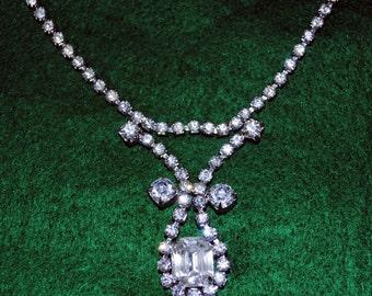Vintage 1940's Rhinestone Necklace