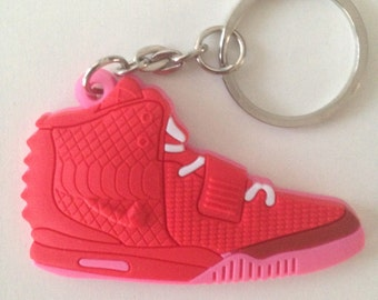 Nike Air Yeezy red Keychain pink