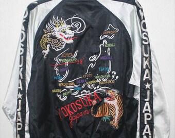 Map jacket etsy vintage sukajan dragon tiger map embroidery japan yokosuka souvenir jacket gumiabroncs Images